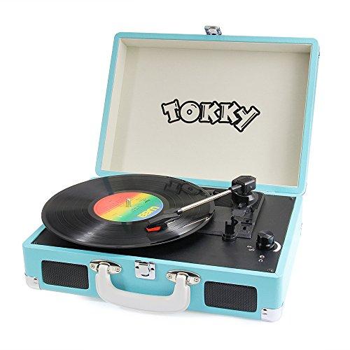 Tokky platine vinyle tourne disque avec haut parleur - Tourne disque avec haut parleur integre ...