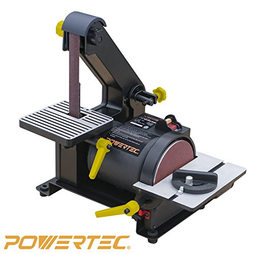 Read About POWERTEC BD1500 Wood Working Belt Disc Sander, 1 x 5