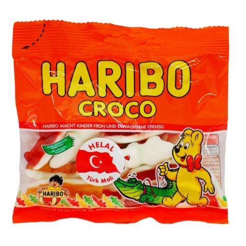 Haribo Croco, Gummibärchen, Weingummi, Fruchtgummi, Helal / Halal, 100g