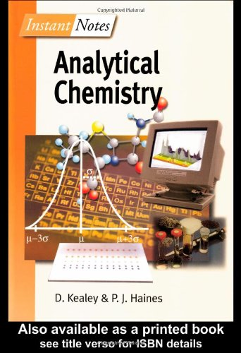 Bios Instant Notes In Analytical Chemistry