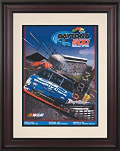 NASCAR Daytona 500 Program Framed Vintage Advertisement Race Year: 39th Annual - 1997 by Mounted Memories