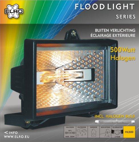 Byron Elro HL500 projecteur halogène 500 W Noir