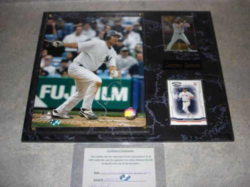 Johnny Damon Autographed NY Yankees Wall Plaque w/ COA at Amazon.com