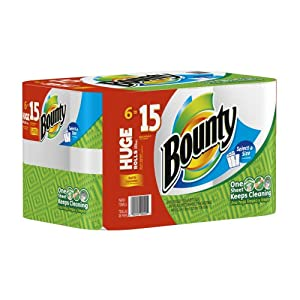 Bounty Huge Roll Select-A-Size, White, 6 Count