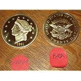 1861 O $20 Liberty Double Eagle Gold Coin Replica