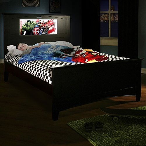 Lightheaded Beds Canterbury Full Bed With Back-Lit Led Headboard Imagery - Black