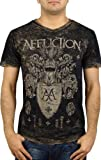 Affliction Mens Journey V-Neck T-Shirt L Black