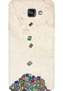AMEZ designer printed 3d premium high quality back case cover for Samsung Galaxy A7 2016 (money smileys)