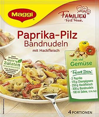 Maggi Familien Fix für Paprika - Pilz Bandnudeln mit Hackfleisch, 15er Pack (15 x 42 g) von Maggi auf Gewürze Shop