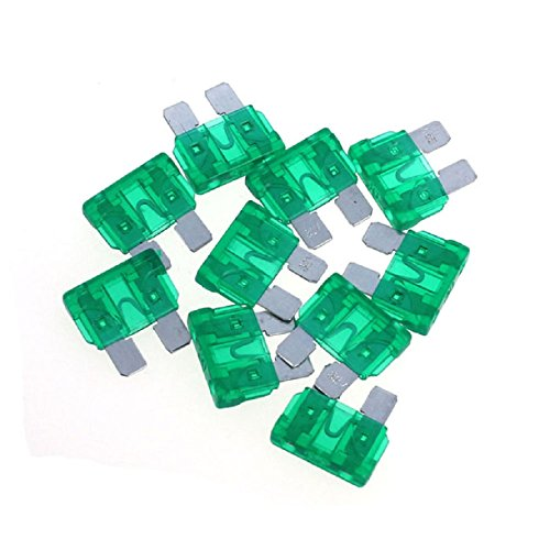 Sannysis(Tm) Useful 50Pc Car Accessory Assorted Auto Truck Boat Standard Blade Fuse 30A(Green)