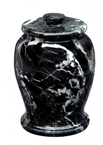 Urnporium Zebra Marble Serenitude Adult Funeral & Cemetery Cremation Urn for Human Ashes, Black (Urns Marble compare prices)