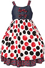 Richie House Big Girls39 Bold Contrasting Polka Dots Dress RH0955