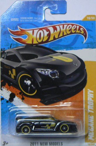 2011 HOT WHEELS NEW MODELS 16/50 BLACK MEGANE TROPHY 16/244