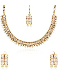 YouBella Traditional Temple Necklace Set For Women