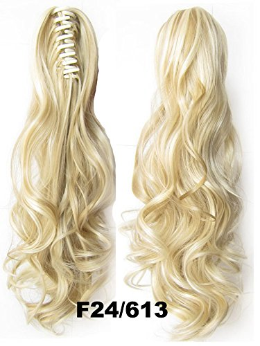 "A.H Ladies 22"" Fashion Cosplay Party Synthetic Ponytaillong Curly Hair Extension #F24/613"