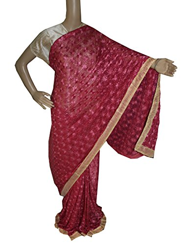 Beautiful RUDA Designer Phulkari Embroidered Saree-JS1126