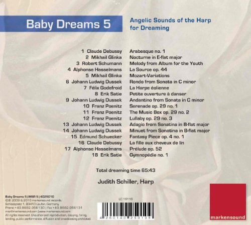 Original album cover of Baby Dreams 5 - Classical Music for Children. Angelic Sounds of the Harp for Dreaming by markensound records