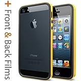 iPhone 5S Case, Spigen Neo Hybrid EX Slim Vivid Case for iPhone 5/5S - Retail Packaging - Reventon Yellow (SGP10028)