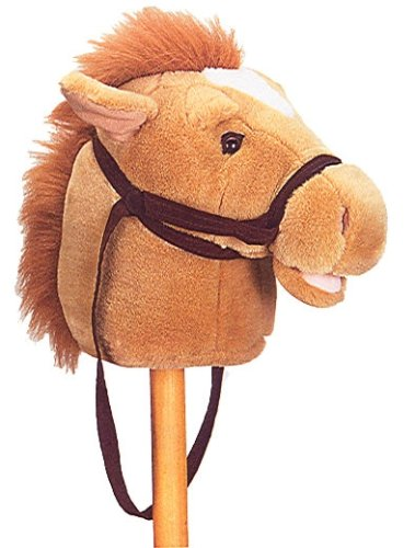 Plush Tan Giddy Pony Stick Horse 37