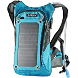 ECEEN Solar Backpack, 7 Walls Solar Panel Bag, With 10000mAh Power Battery Pack Charge for Smart Cell Phones and Tablets, GPS, eReaders, Bluetooth Speakers, Gopro Cameras etc.