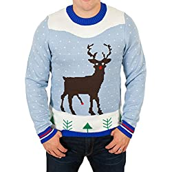 Red Rocket Rudolph Naughty Christmas Sweater