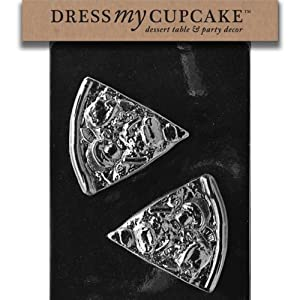 Dress My Cupcake DMCK086 Chocolate Candy Mold, Pizza Slice
