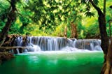 Poster Wasserfall Feng Shui Wandbild Dekoration Natur...