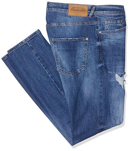 Frankie Morello Dundee, Jeans a Gamba Dritta Uomo, Blu (Blu Denim), 48 (Taglia Produttore:30)