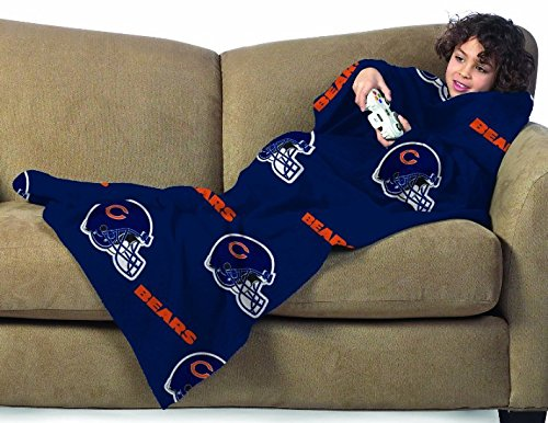 NFL Chicago Bears Youth Size Comfy Throw Blanket with Sleeves