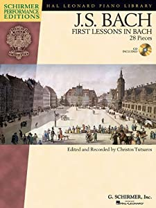 Js Bach First Lessons In Bach Bookcd Pf Schirmer Performance Editions from Hal Leonard