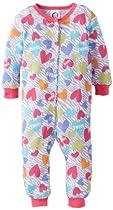 Gerber Baby-Girls Newborn 1 Piece Thermal Unionsuit, Zebra Hearts, 6 Months