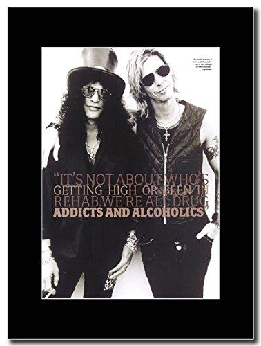 Motivo: Slash dei Guns 'N'Roses, & Duff Addicts & Alcoholics Magazine Promo su un supporto, colore: nero