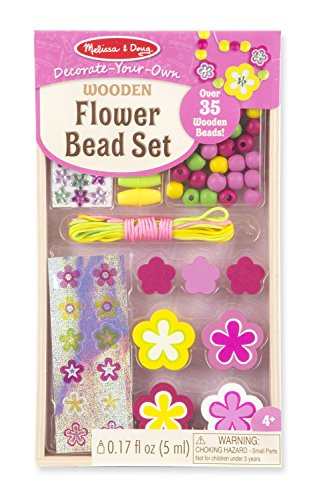 Melissa & Doug Melissa and Doug Flower Bead Set Toy, Multi Color