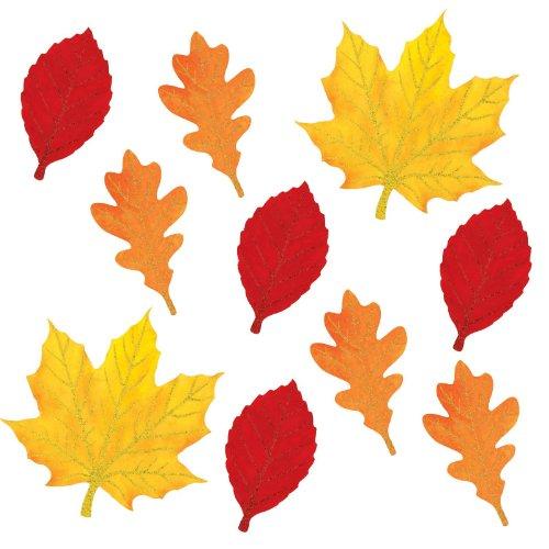 Amscan Mini Glitter Leaves Cutouts Assortment (10)