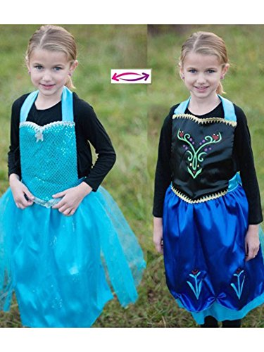 Reversible Character Apron - Elsa and Anna Costume for Kids
