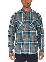 Bench Camisa Hombre (Gris / Turquesa)
