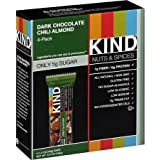 Kind Gluten Free Dark Chocolate Chili Almond Nuts & Spices Bars 4 - 1.4 Oz (Pack of 3)