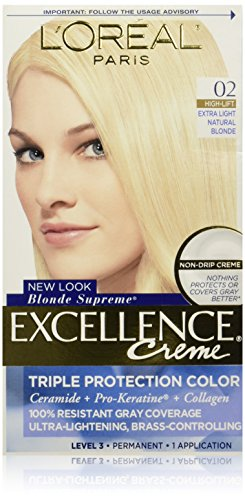 L'Oreal Paris Excellence Creme, 02 Extra Light Natural Blonde, (Packaging May Vary) (High Lift Hair Dye Blonde compare prices)