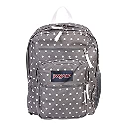 JanSport Big Student Classics Series Backpack - Shady Grey/White Dotss