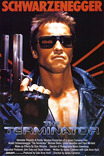 (24x36) Terminator Movie Arnold Schwarzenegger with Gun 80s Poster Print (Movie Posters compare prices)