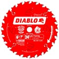 Freud D0624X Diablo 6-1/2-Inch 24-Tooth ATB Framing Saw Blade with 5/8-Inch Arbor from Diablo