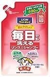 毎日でも洗えるリンスインシャンプー つめかえ用 愛犬用 フローラルの香り600ml