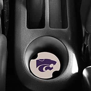 Buy NCAA Kansas State Wildcats 2-Pack Ceramic Absorbent Carster Coasters by Carsters
