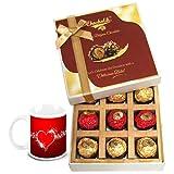 Valentine Chocholik Belgium Chocolates - Chocolicious Ecstasy Gift Box With Love Mug