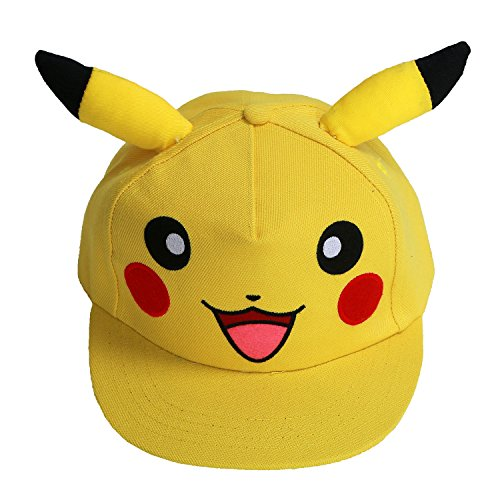[XCOSER New Version V6 Pokemon Ash Hat Ketchum Baseball Hat Cap Adult Pikachu A] (Womens Baseball Costumes)