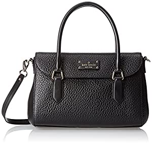 kate spade new york Grove Court Small Leslie Top Handle Bag,Black,One Size