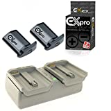 Ex-Pro® Nikon MH-26, MH26, EN-EL18, Canon LC-E4 LCE4 LP-E4 LPE4 sequential Dual Fast Charger with 2 x LP-E4 Battery - for Nikon D4 digital SLR, Canon EOS 1D C, Canon EOS 1D X, Canon EOS 1D III, EOS 1D Mark IV, EOS 1Ds III Mark 3