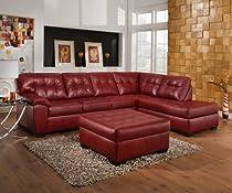 Big Sale Simmons Cardinal Burgundy Leather sectional