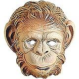 Kinder Affenmaske Affen Maske braun Affe Maske Affemaske Tiermaske Kostüm Zubehör Fasching Kindermaske