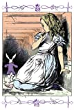 Art Poster, Alice in Wonderland: Alice Watches the White Rabbit - 18.75 x 27.5